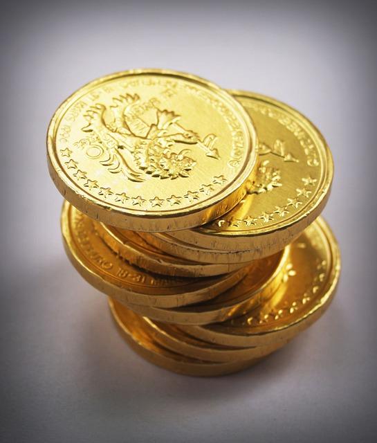 komínek zlatých mincí